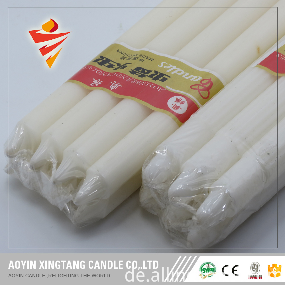 fluted white candle