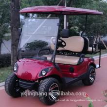 Elektrischer Golfwagen mit 2 Sitzplätzen mit Golftaschenhalter