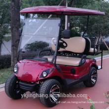 Carrito de golf eléctrico de 2 plazas con soporte para bolsa de golf