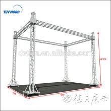 sistema de treliça de alumínio, treliça de luz do parafuso, treliça de torneira para a feira profissional, palco, telhado, torre