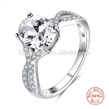Wholesale various fashion sterling silver ring wedding S925 silver ring diamond with AAA zircon