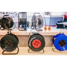 Prise de câble en caoutchouc de l'Allemagne IP44 de douilles de 4x16A, bobine de prolongation en caoutchouc de Schuko H07RN-F