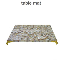CBM-MP New Style Chinese MOP shell placemat with golden corner