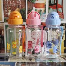 400ml garrafa de água de plástico bonito do bebê dos desenhos animados