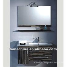 MDF wood wenge bathroom wall cabinet/vanity free paint