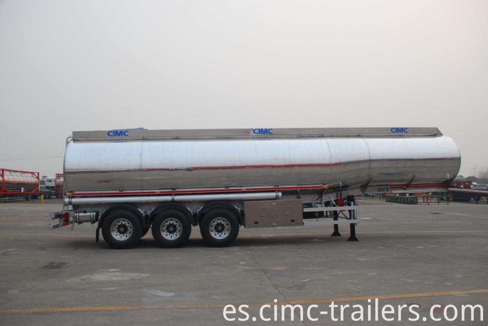 R Aramco Alu Alloy Fuel Tank Semi Trailer