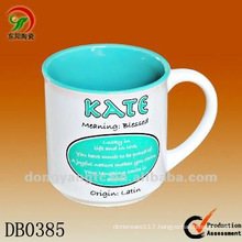 340cc custom glazed ceramic cups mugs