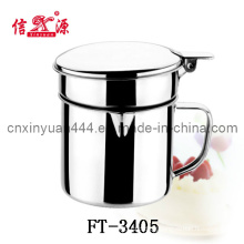 12cm Stainless Steel Oil Cup with Mesh Skimmer (FT-3405)
