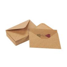 O balão de ar colorido do coração projeta o amor Brown Kraft Valentine Paper Greeting Cards