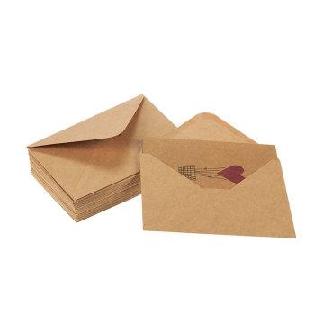 Dessins colorés de montgolfière en forme de coeur Amour brun Kraft Valentine Cartes de souhaits