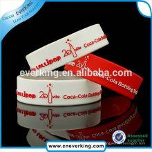 Pulseiras de pulseira de silicone transparente OEM fábrica elegante