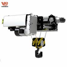 Carro eléctrico del alzamiento eléctrico de la cuerda de alambre del estilo europeo con el engranaje para levantar el hormigón