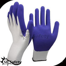 SRSAFETY cheap price gloves/13g nylon knitted foam latex dipped/hand gloves