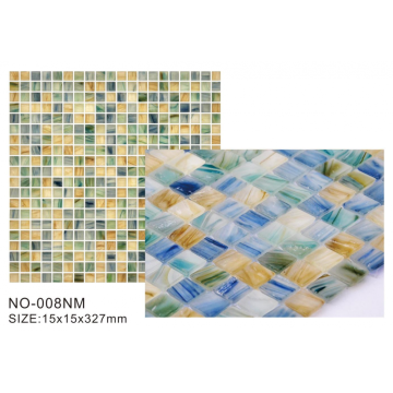 Azulejos de mosaico de vidrio mate de la serie esmerilada