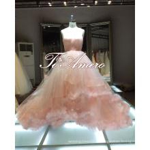 1A363 Menina pura Sweethear A-Line Pink Prom Dresses vestido de vestido de bola Vestido