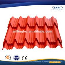 China fabricante telha de telha papel de aço corrugado preço