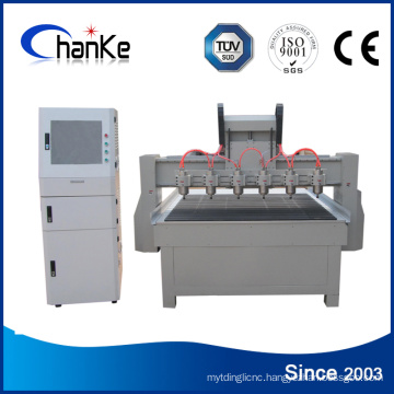 6 Heads Wood 3D Engraving Machine for Wood MDF Acrylic