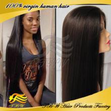Peruca dianteira do laço da parte superior da peruca do cabelo humano do Virgin da beleza