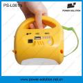 Tragbare 4500mAh 6V Solarlaterne und Lampe mit Handy-Ladegerät für Camping oder Notbeleuchtung (PS-L061)