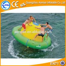 Deportes acuáticos remolcables inflables, juguete inflable del agua del barco del discoteca, UFO loco