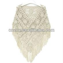 13STC5542 lady ponchos pull poncho au crochet