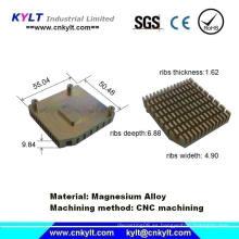Partes de disipador de calor mecanizado de aluminio con CNC