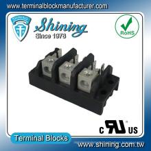 TGP-085-03A 600V 85A 3 Pole LED Power Distribution Terminal Block