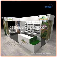 Booth conception et construction pour la conception de stand d'exposition personnalisée salon