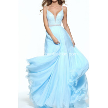Nueva llegada rebordear Sequined Formal Prom Dresses