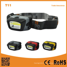 T11 AAA Opéré 3W LED Camping Light COB LED Lampe frontale