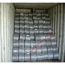 Clôture galvanisée à chaud de grillage de fil de rasoir de fil de Barded galvanisé