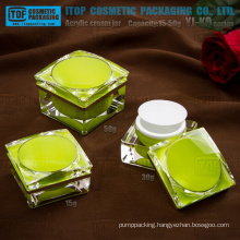 YJ-KQ Series beautiful blooming flower 15g 30g 50g square acrylic cream jars