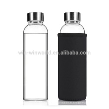 Hot Selling Product Reusable Promotion Gift Portable Large Glass Sparkling Water Bottle