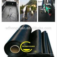 Le caoutchouc enduit par EPDM de 2.0mm imperméabilisent / revêtement de bord / toit / sous-couche d'étang (ISO)