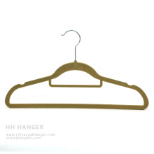 Customized Flocked Hanger, Hot Sale Velvet Hanger, Pants Hanger