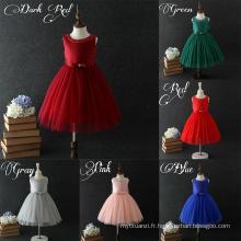 Dessins de conception élégante de conception simple d'anniversaire de coton de promotion des ventes pour la fille de bébé de 8 ans