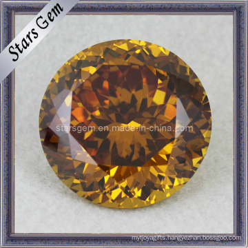 Good Polished Round Shape Shinning Golden CZ Gems