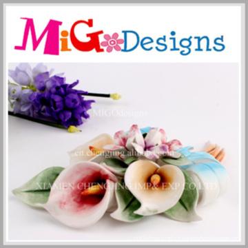 Nouvelle décoration de fleurs en céramique personnalisée