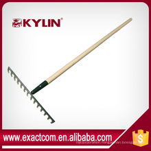 Good Quality Carbon Steel 14 Teeth Garden Lawn Leaf Rake