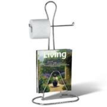 Spectrum Diversified Toilet Paper Holder W/ Magazine Rack