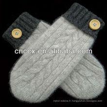 PK17ST318 mode hiver gants tricotés à la main pour les filles