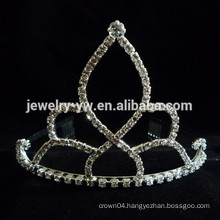 cheap wholesale hair accessories crystal tiara shape metal headband