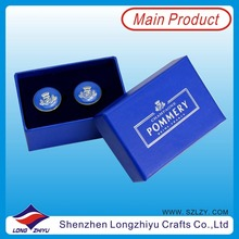 France Custom Cufflink Make Your Own Cufflinks with Gift Box