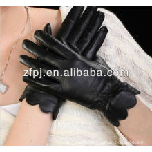 Lady Dress Wearing Leather Gloves with lace Hot Sale Item ZFYB