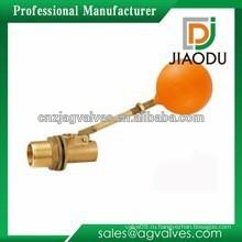 Производство высококачественного латунного плавающего шарового крана dn25 для туалета