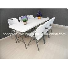 8FT Прямоугольный складной стол для использования на открытом воздухе
