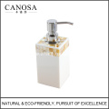 Golden Mother of Pearl Liquid Soap Dispenser for Bathroom