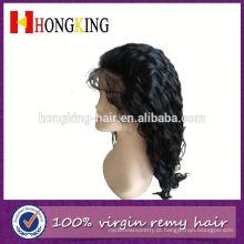Cabelo humano da peruca dianteira moderna do laço do cabelo humano para mulheres negras