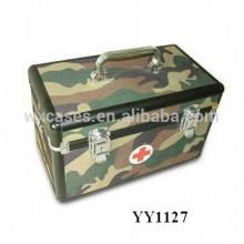 caja de aluminio militar de primeros auxilios