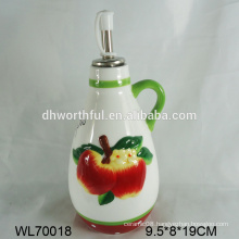 2016 modern style ceramic oil bottle with handle
